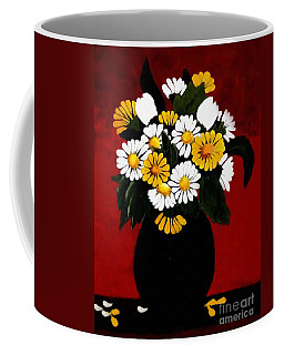 Coffee Mug featuring the painting He Loves Me... by Barbara Griffin