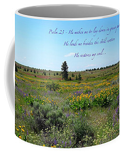 He Restores My Soul Coffee Mug by Lynn Hopwood