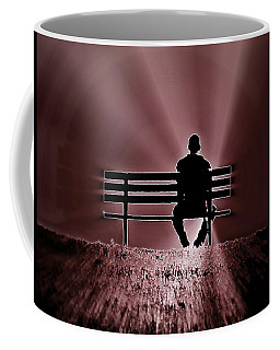 He Spoke Light Into The Darkness Coffee Mug by Micki Findlay