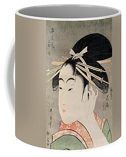 Head Of A Woman Colour Woodblock Print Coffee Mug