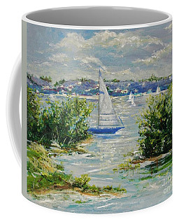 Heading Out Of The Harbor Coffee Mug