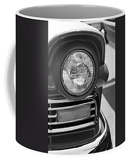 Coffee Mug featuring the photograph Headlight Black And White by Denise Beverly