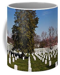 Headstones In A Cemetery, Arlington Coffee Mug