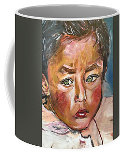 Coffee Mug featuring the painting Heal The World by Belinda Low