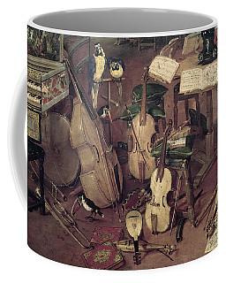 Hearing, 1617 Oil On Panel Detail Of 55898 Coffee Mug