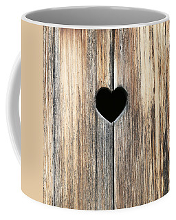 Coffee Mug featuring the photograph Heart In Wood by Brooke T Ryan
