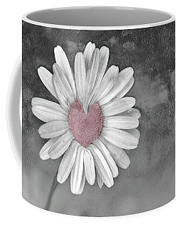 Heart Of A Daisy Coffee Mug