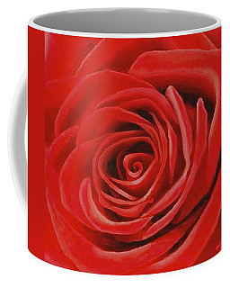 Heart Of A Red Rose Coffee Mug