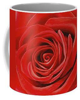 Heart Of A Red Rose Coffee Mug by Sophia Schmierer