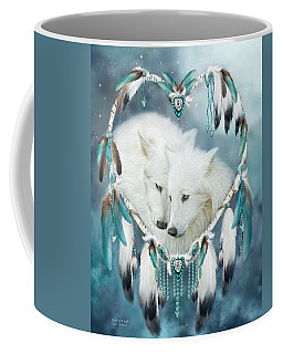 Heart Of A Wolf Coffee Mug by Carol Cavalaris