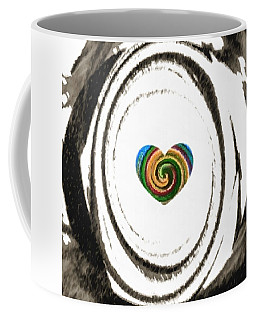 Coffee Mug featuring the digital art Heart Within by Catherine Lott