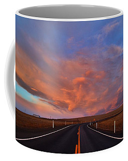 Coffee Mug featuring the photograph Heavenly Clouds by Lynn Hopwood