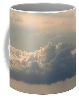 Coffee Mug featuring the photograph Heavenly Clouds Panorama by Patricia Strand