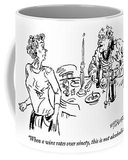 Heavy-drinking Man Speaks To Woman Who Is Walking Coffee Mug