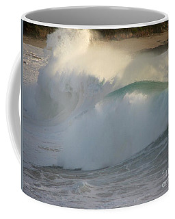 Heavy Surf At Carmel River Beach Coffee Mug