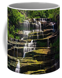 Coffee Mug featuring the photograph Hector Falls by Dave Files