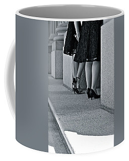 Heels And Lace Coffee Mug by Linda Bianic