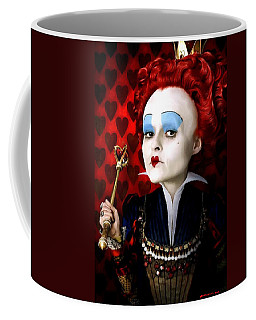 Helena Bonham Carter As The Red Queen In The Film Alice In Wonderland Coffee Mug