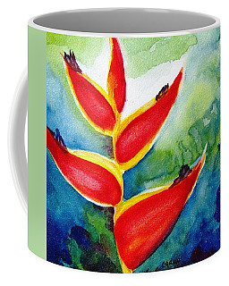 Heliconia - Abstract Painting Coffee Mug by Carlin Blahnik