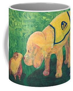 Coffee Mug featuring the painting Hello - Cci Puppy Series by Donald J Ryker III