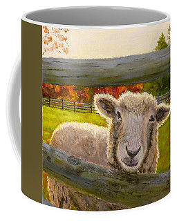 Coffee Mug featuring the painting Hello by Joe Bergholm