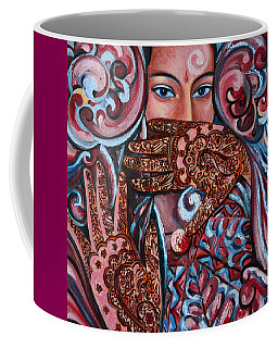Coffee Mug featuring the painting Henna by Harsh Malik
