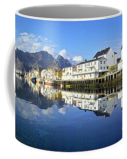 Henningsvaer Harbour Coffee Mug by Heiko Koehrer-Wagner