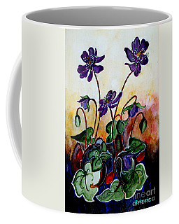 Hepatica After A Design By Anne Wilkinson Coffee Mug