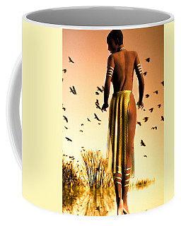 Coffee Mug featuring the photograph Her Morning Walk by Bob Orsillo
