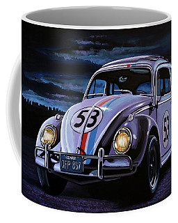 Herbie The Love Bug Painting Coffee Mug