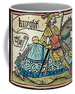 Here Begynneth The Knightes Tale, Illustration From The Canterbury Tales By Geoffrey Chaucer Coffee Mug