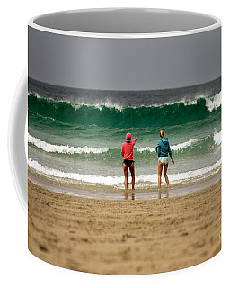 Coffee Mug featuring the photograph Here Comes The Big One by Terri Waters