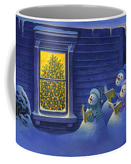 Here We Come A Caroling Coffee Mug by Michael Humphries