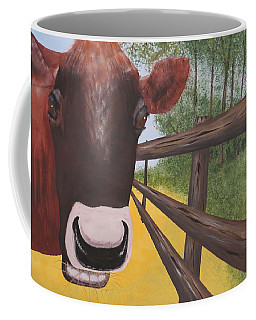 Here's Looking At Moo Coffee Mug by Tim Townsend