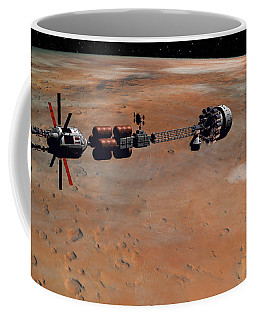 Hermes1 Orbiting Mars Coffee Mug