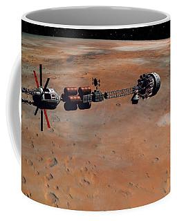 Hermes1 Orbiting Mars Coffee Mug by David Robinson