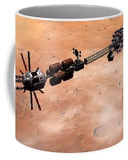 Hermes1 Over Mars Coffee Mug