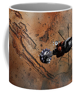 Hermes1 With The Mars Lander Ares1 In Sight Coffee Mug by David Robinson