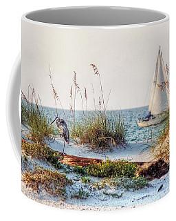 Heron And Sailboat Coffee Mug