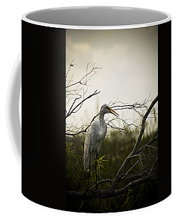 Heron At Dusk Coffee Mug