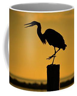 Heron At Sunrise Coffee Mug