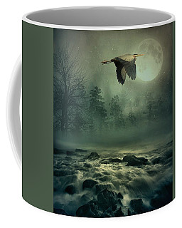 Heron By Moonlight Coffee Mug