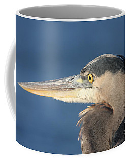 Coffee Mug featuring the photograph Heron Close-up by Christiane Schulze Art And Photography