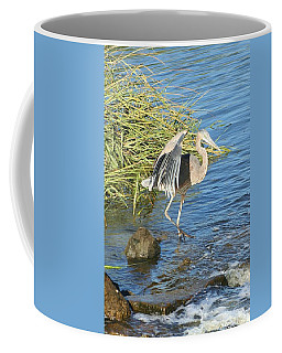 Heron Dance Coffee Mug by Karen Silvestri