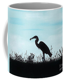 Heron Has Supper Coffee Mug