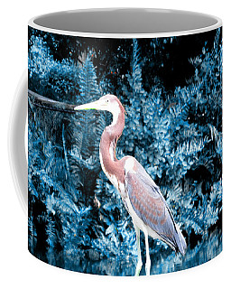 Heron In Blue Coffee Mug