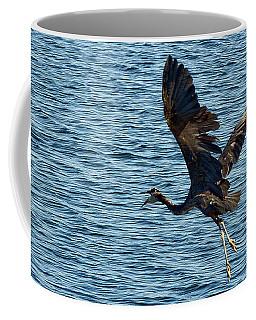 Heron In Flight Coffee Mug