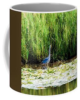 Coffee Mug featuring the photograph Heron by Leif Sohlman