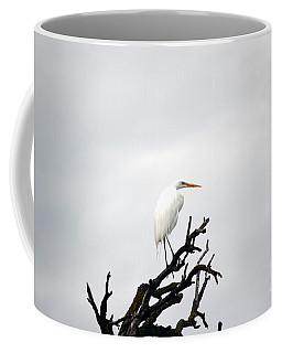 Heron On A Dead Tree Coffee Mug