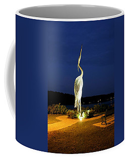 Heron On Mill Pond Coffee Mug